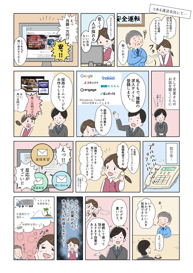 漫画「運ぶおしごと.comのサービス内容」